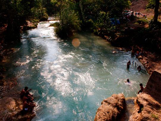 El Río Azul, en Jacaltenango, Huehuetenango. Foto: Jorge Rodríguez/Viatori