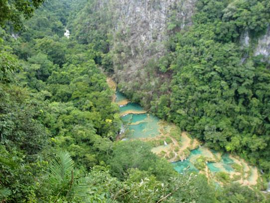 Vista desde el mirador de Semuc. Foto: Jorge Rodríguez/Viatori