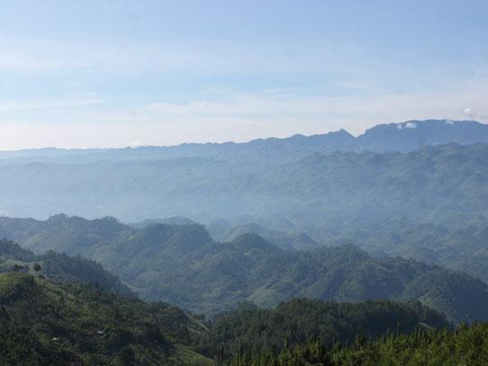 Valle del Río Cahabón, conocido como 'Cartón de huevos'. Foto: Jorge Rodríguez/Viatori